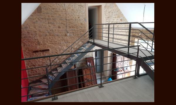 Escalier + passerelle + garde-corps