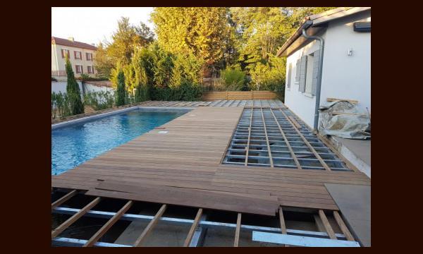 Structure terrasse + platelage ipé
