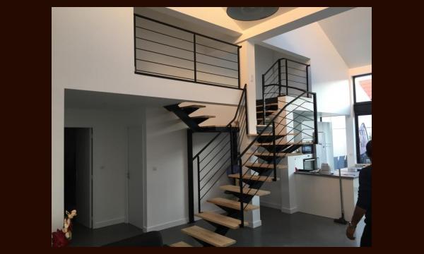 Escalier Acier-Bois en Y