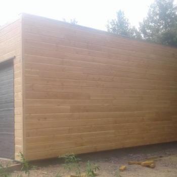 Garage avec Bardage Bois