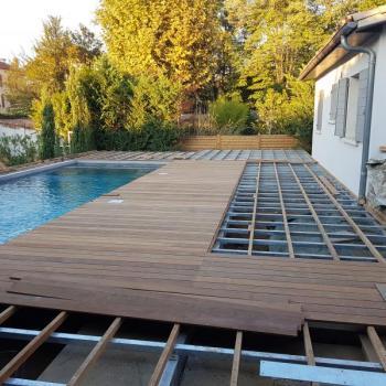 Structure terrasse + plattelage ipé