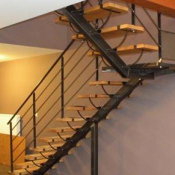 Escalier 1/4 Tournant avec palier